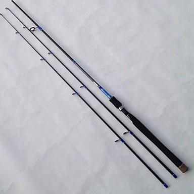 Vara de Pesca Rotativa Arame de Ferro / Alúminio / EVA / Carbono 2.1 M Isco de Arremesso / Pesca de Água Doce / Pesca Geral HastePreto /