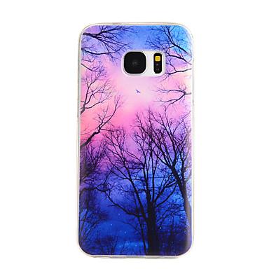 Para Samsung Galaxy S7 Edge Estampada Capinha Capa Traseira Capinha Árvore TPU Samsung S7 edge / S7 / S6 edge / S6