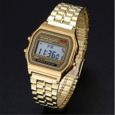 levne Pánské-Pánské Hodinky k šatům Náramkové hodinky Digitální hodinky Digitální Nerez Stříbro / Zlatá Hodinky na běžné nošení Digitální Přívěšky - Stříbrná Zlatá
