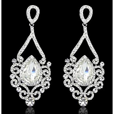 Dames Druppel oorbellen Zirkonia Birthstones Geboortestenen Zirkonia Kubieke Zirkonia Sieraden Wit Gouden Bruiloft Feest Kostuum juwelen
