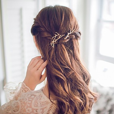 Dames Eenvoudig Schattig Romantisch Casual / Sporty Kantoor/Formeel Koreaans Legering Haarclip Gouden