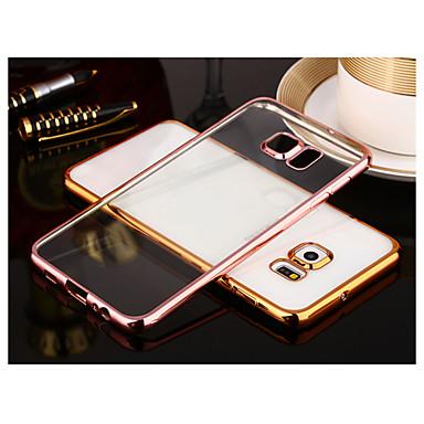Capinha Para Samsung Galaxy Samsung Galaxy S7 Edge Galvanizado Transparente Capa traseira Côr Sólida TPU para S8 Plus S8 S7 edge S7