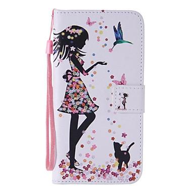 Para Samsung Galaxy S7 Edge Carteira / Porta-Cartão / Com Suporte / Flip Capinha Corpo Inteiro Capinha Mulher Sensual Couro PU SamsungS7