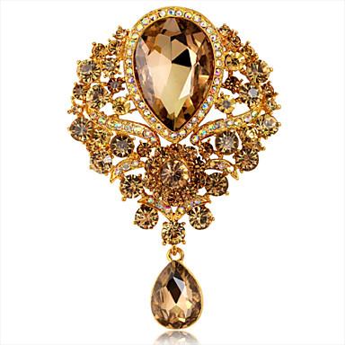 kobiet moda luksusowe klejnot kryształ rhinestone kropla wody odznaki szpilki kwiat broszka ślubu Party / 1 sztukę