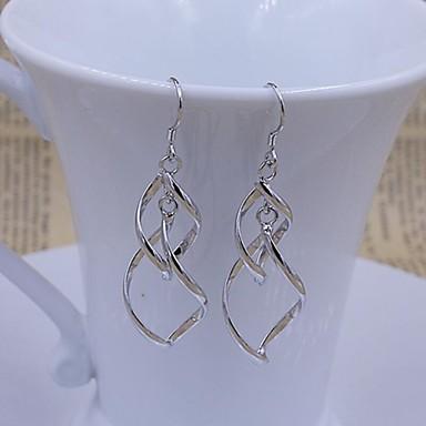 Druppel oorbellen Sterling zilver Wit Sieraden Voor Bruiloft Feest Dagelijks Causaal 1 Set