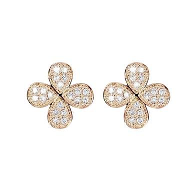 Oorknopjes Kristal Zilver Gouden Sieraden Voor Bruiloft Feest Dagelijks Causaal 1 Set