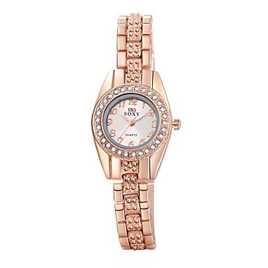 Dames Modieus horloge Armbandhorloge Vrijetijdshorloge Kwarts Legering Band Elegante horloges Goud Rose
