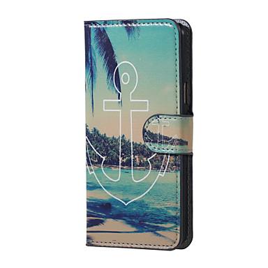 Voor Samsung Galaxy hoesje Hoesje cover Kaarthouder met standaard Flip Patroon Magnetisch Volledige behuizing hoesje Anker PU-leer voor