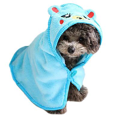 Kat Hond Handdoeken Reiniging Baden Zacht Schattig Wit Bruin Blauw Roze