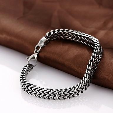 Armbanden met ketting en sluiting Uniek ontwerp Modieus Sieraden Zwart Sieraden Voor Kerstcadeaus 1 stuks