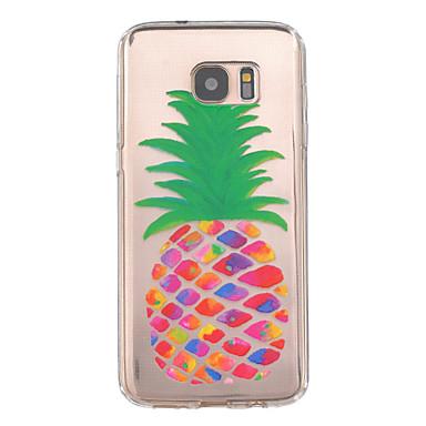 Voor Samsung Galaxy S7 Edge Hoesje cover Reliëfopdruk Achterkantje hoesje Fruit TPU voor Samsung Galaxy S7 edge S7
