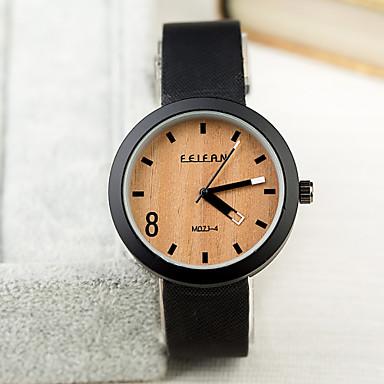levne Pánské-Pánské Náramkové hodinky Křemenný Kůže Černá / žlutá / Béžová Žhavá sleva Analogové Přívěšky Klasické - 6# 7# 8# / Nerez