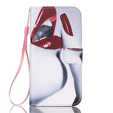 hoesje Voor Samsung Galaxy Samsung Galaxy S7 Edge Kaarthouder Portemonnee met standaard Flip Volledig hoesje Sexy dame PU-nahka voor S7