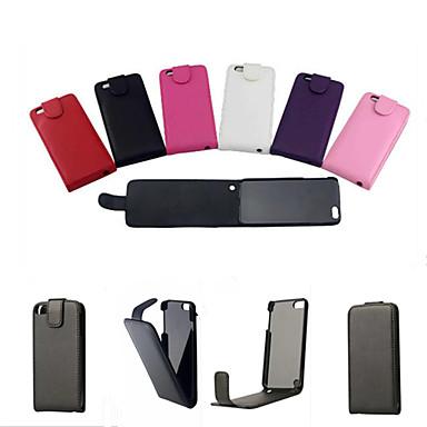 Para Capinha iPhone 6 / Capinha iPhone 6 Plus Flip Capinha Corpo Inteiro Capinha Cor Única Rígida Couro PUiPhone 6s Plus/6 Plus / iPhone