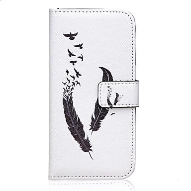 Para Samsung Galaxy Capinhas Porta-Cartão / Com Suporte / Flip / Magnética / Estampada Capinha Corpo Inteiro Capinha Pena Couro PU Samsung
