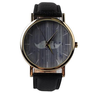 Mulheres Relógio de Moda Quartzo PU Banda Preta Preto