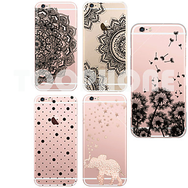 hoesje Voor iPhone 6 iPhone 6 Plus Ultradun Transparant Patroon Achterkantje Cartoon Zacht TPU voor iPhone 6s Plus iPhone 6 Plus iPhone