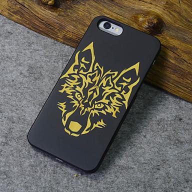 Para Capinha iPhone 6 / Capinha iPhone 6 Plus Estampada Capinha Capa Traseira Capinha Animal Rígida MadeiraiPhone 6s Plus/6 Plus / iPhone