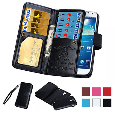 voordelige Galaxy Note-serie hoesjes / covers-hoesje Voor Samsung Galaxy Note 5 / Note 4 / Note 3 Portemonnee / Kaarthouder / Flip Volledig hoesje Effen PU-nahka