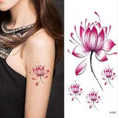 o dia das bruxas 1pc flor de lótus etiqueta impermeável tatuagem