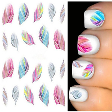 2pcs Water Transfer Sticker Other Decorations Nail Stamping Template Daily Abstract Fashion Wedding High Quality