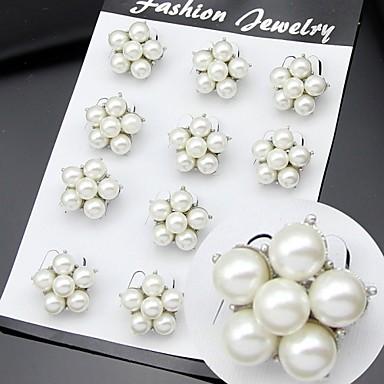 Dames Kubieke Zirkonia Broches - Feest / Werk / Modieus Wit Broche Voor Bruiloft / Feest / Speciale gelegenheden