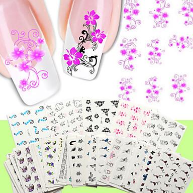 50PCS Jóias de unha Etiquetas de unhas 3D Modelo de estampa de unhas Diário Fashion Punk Alta qualidade