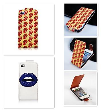 Para Capinha iPhone 5 Estampada / Magnética Capinha Corpo Inteiro Capinha Desenho Rígida Couro PU iPhone SE/5s/5