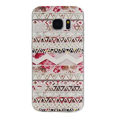 Para Samsung Galaxy S7 Edge Estampada Capinha Capa Traseira Capinha Linhas / Ondas TPU Samsung S7 edge / S7