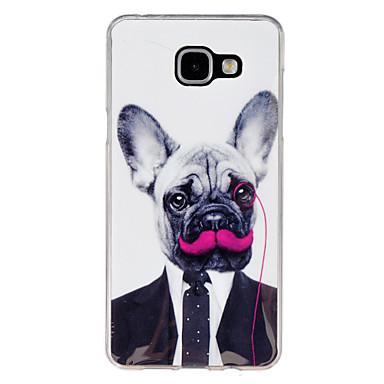 Para Samsung Galaxy Capinhas Estampada Capinha Capa Traseira Capinha Cachorro TPU Samsung A7(2016) / A5(2016) / A3(2016) / A9