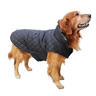 Χαμηλού Κόστους Ρούχα και αξεσουάρ για σκύλους-Σκύλος Παλτά Veste Ρούχα για σκύλους Καρό / Τετραγωνισμένο Καφέ Κόκκινο Πράσινο Βαμβάκι Στολές Για Άνοιξη & Χειμώνας Χειμώνας Ανδρικά Γυναικεία Διατηρείτε Ζεστό Διπλής Όψης