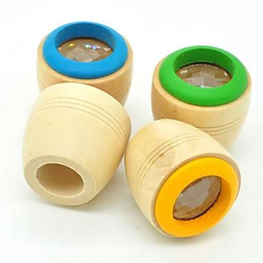 1pc criança educacional brinquedo clássico mágica madeira colorido prisma do caleidoscópio