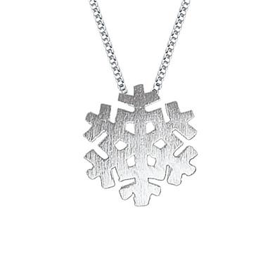 Dames Sneeuwvlok Modieus Hangertjes ketting Sterling zilver Hangertjes ketting , Feest Dagelijks Causaal