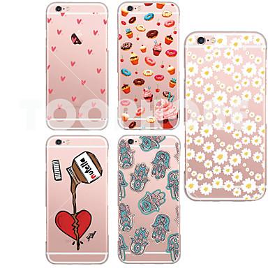 Para iPhone X iPhone 8 Capinha iPhone 5 Case Tampa Transparente Estampada Capa Traseira Capinha Desenho Animado Macia PUT para iPhone X