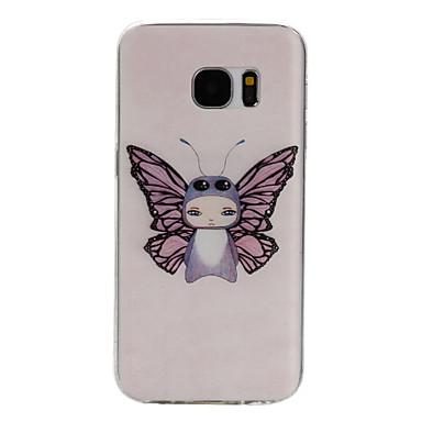 angel patroon TPU materiaal telefoon geval voor Samsung Galaxy S7 / S7 edge / S7 plus