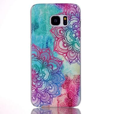 Para Samsung Galaxy S7 Edge Estampada Capinha Capa Traseira Capinha Mandala PC Samsung S7 edge plus / S7 edge / S7