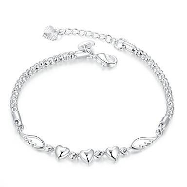 Dames Armbanden met ketting en sluiting Liefde Eenvoudige Stijl Modieus Europees Kostuum juwelen Koper Verzilverd Liefde Sieraden Voor