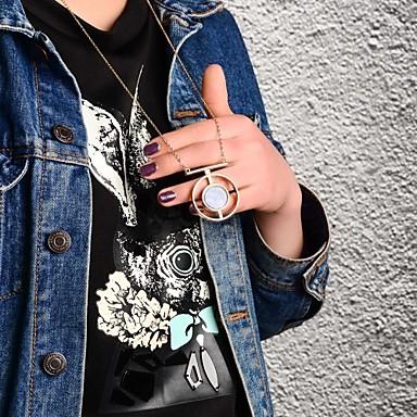 billige Mote Halskjede-Herre Dame Krystall Anheng Halskjede Enkel Klassisk Tegneserie trendy Krystall Legering Gylden Halskjeder Smykker Til Fest Daglig Avslappet