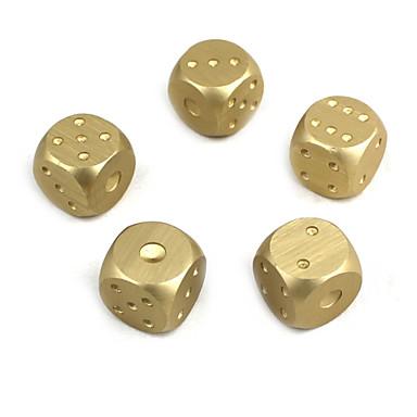 dice de liga de alumínio requintados prata dourada