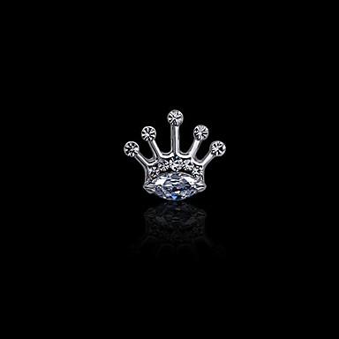 Homens Feminino imitação de diamante Liga Moda Prata Dourado Jóias Casamento Festa Diário Casual