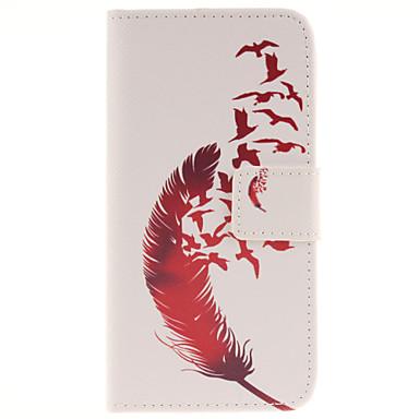 Para Samsung Galaxy S7 Edge Carteira / Porta-Cartão / Com Suporte / Flip Capinha Corpo Inteiro Capinha Pena Couro PU Samsung S7 edge / S7