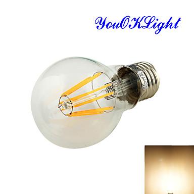 8W E26/E27 Lâmpada Redonda LED A60(A19) 8 COB 750 lm Branco Quente Decorativa AC 85-265 / AC 220-240 / AC 110-130 V 1 pç