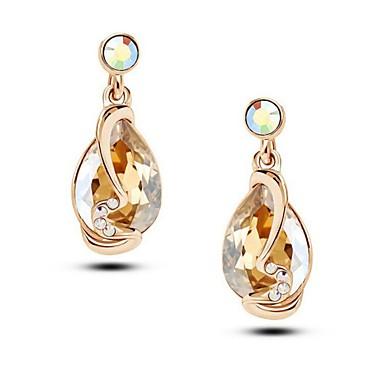 Druppel oorbellen Kristal Wit Roos Rood Blauw Gouden Sieraden Voor Bruiloft Feest Dagelijks Causaal 1 Set
