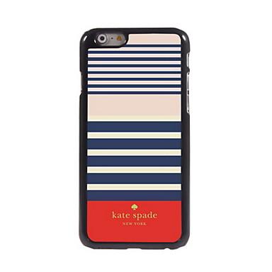 Voor iPhone 6 hoesje iPhone 6 Plus hoesje Hoesje cover Patroon Achterkantje hoesje Lijnen / golven Hard Metaal voor iPhone 6s Plus iPhone