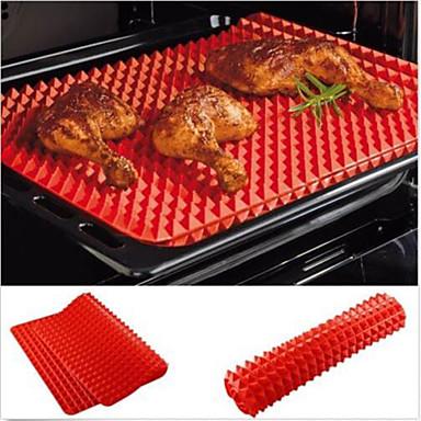 pan pyramide rouge antiadhésif silicone cuisson mat moule mat de cuisson plaque de cuisson four