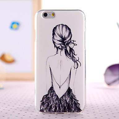huge selection of 52ddc 1da4a Cartoon Girl Back Design Back Cover Case for IPhone 6 Plus Iphone 6S Plus