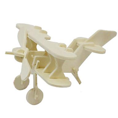 Jigsaw Puzzle 3D építőjátékok Fából készült építőjátékok Építőkockák DIY játékok Repülőgép Fa