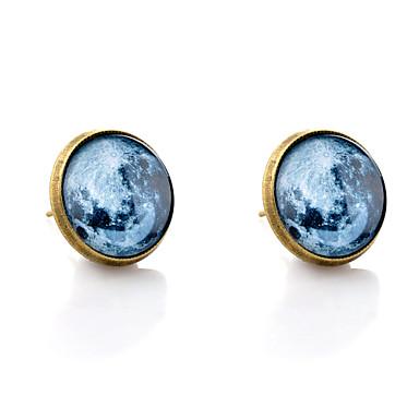 Beszúrós fülbevalók minimalista stílusú Szintetikus drágakövek Üveg Ötvözet Ékszerek Bronz Esküvő Parti Napi Hétköznapi Jelmez ékszerek