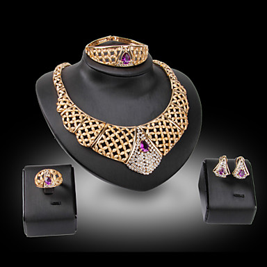 Női Ékszer készlet Luxus Vintage Party Bokaperec Születési kövek Divat Parti Különleges alkalom Születésnap Drágakő és kristály