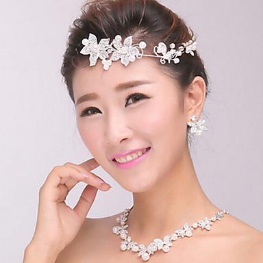 női ezüst kristály gyöngy fejpánt homlok haj ékszerek lakodalom